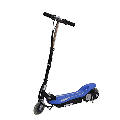 Price comparison product image GHP Blue Heavy-Duty Iron Frame 120W Eco-Friendly Foldable Electric Scooter