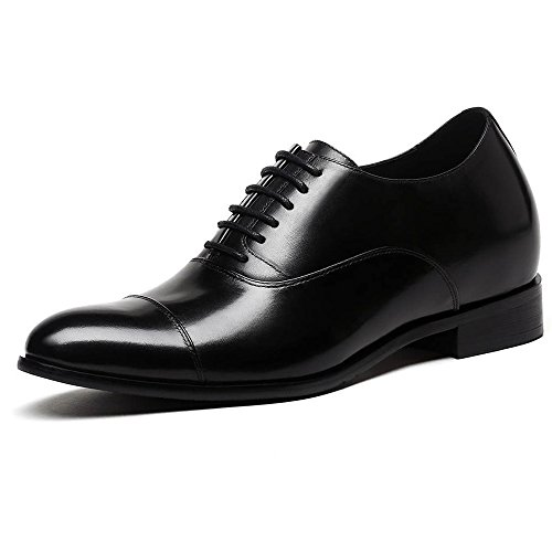 CHAMARIPA Men Height Increasing Elevator Shoes 2.76'' Taller Dress Shoes X92H38-1 (9 D(M) US,Black) by CHAMARIPA