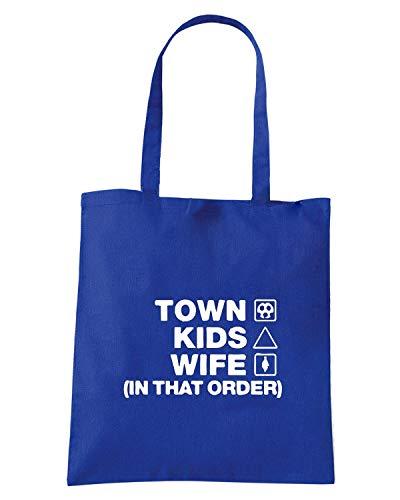 HUDDERSFIELD WC1261 Borsa Royal WIFE TOWN Shopper Blu ORDER KIDS qBBCnwAIx1