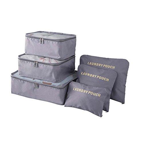 Price comparison product image URIJK Travel Packing Organizer Cube Luggage Organizer Bag Clothing Storage 6PC Pouch SetIJK Travel Packing Organizers Cubes Luggage Organizer Bag In Bag Clothing Storage 6PC Pouch Set
