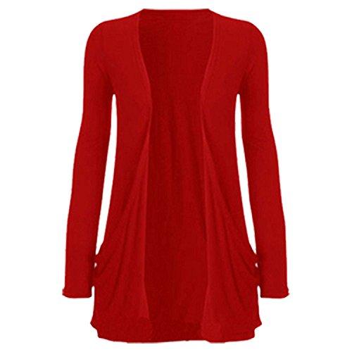 FashionCity 44 M L Red Donna Cardigan 46 qnxRqrBCw