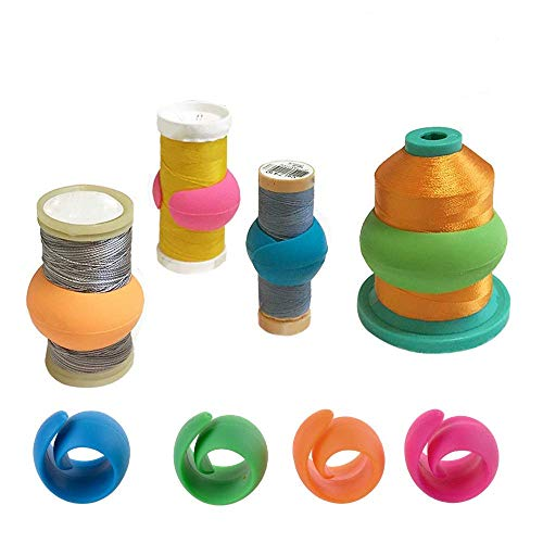 (80 Pieces Peels Thread Spool Huggers to Prevent Thread Unwinding and Keep Thread Tails Under Control)