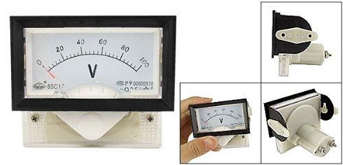 eDealMax DC 0-100V Classe 2.5 Précision Tension panneau analogique Voltmètre