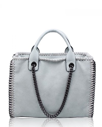 Chain Ash LeahWard Girls Women's Handbag School Tote Holiday Or For Matching Bags Trim Grey Purse Bags College ggZpWnUS