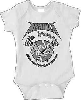 6749c9b3de5e Amazon.com  Metallica Tattoo Baby Boys White Onesie  Baby