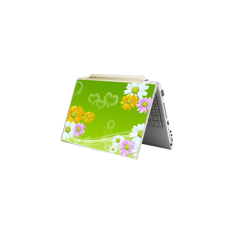 Laptop Skin Shop 17 17.3 inch Laptop Notebook Skin Sticker Cover Art Decal Fits 16.5 17 17.3 18.4 19 HP Dell Apple Asus Acer Lenovo Asus Compaq (Free 2 Wrist Pad Included) Sunflowers Floral