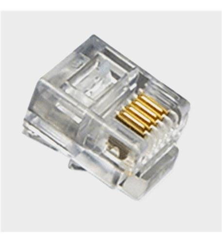 Mod Tel Plugs, Flat Strand 6P4C, 100PK Computers, Electronics, Office Supplies, Computing ()