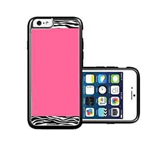 RCGrafix Brand Zebra pattern on Hot pink iPhone 6 Case - Fits NEW Apple iPhone 6