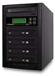 Copystars DVD-Duplicator 24X CD-DVD-Burner 1 to 4 Copier Sata Dual Layer Copy Easy Writer Tower SYS-1-4-ASUS/LG-CST