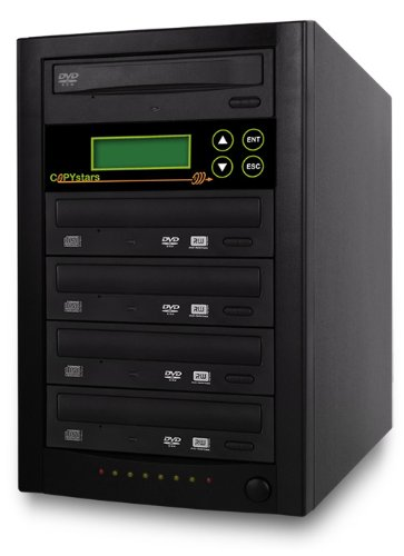 Copystars DVD-Duplicator 24X CD-DVD-Burner 1 to 4 Copier Sata Dual Layer Copy Easy Writer Tower SYS-1-4-ASUS/LG-CST