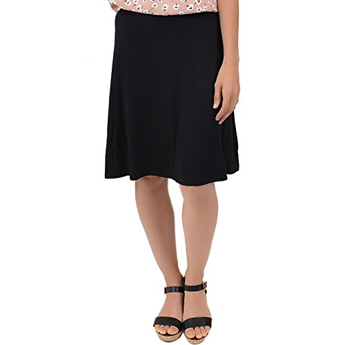 omen's A-Line Skirt Black X-Large (Knit Womens Skirt)
