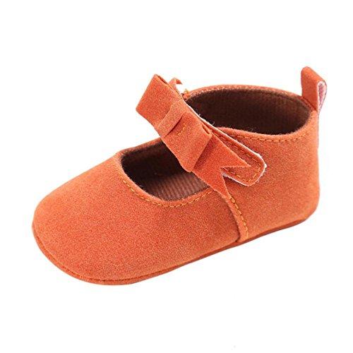 Sandalias de chica, Internet Zapatillas antideslizantes antideslizantes para bebés recién nacidos Naranja