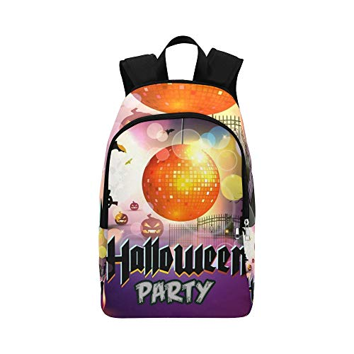 YSWPNA Halloween Party Halloween Invitation Casual Daypack Travel Bag College School Backpack for Mens and Women