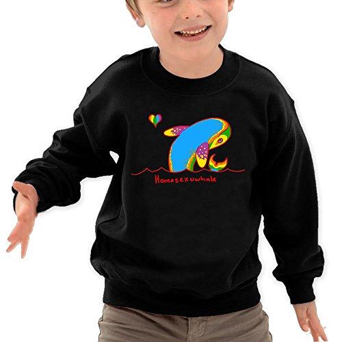 Puppylol Homosexu-Whale Kids Classic Crew-Neck Pullover Sweatshirt Black 2 Toddler