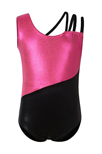 Girls' Dance Ballet Camisole Tank Leotard For Toddler Gymnastics Unitard Tutu Skirt Dress Maillot With 3 Straps (4-5, (Strap Maillot)