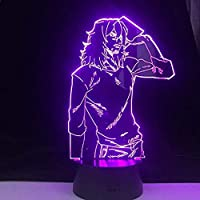 Beautiful Gift SHOTA AIZAWA 3D LED Anime LAMP My Hero Academia 3D Led 7 Colors Night Light Japanese Anime Remote (Remote…