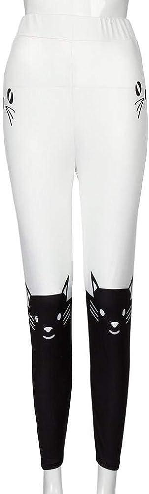 Pantalones Deportivos Para Mujer Pantalones Deportivos Pantalones Moda Mujer Para Largos Para Gimnasia Cintura Media Gato Estampado De Yoga Pantalones Pantalones (Color : Negro, Size : S) : Amazon.es: Ropa y accesorios