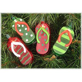 10 Holiday FLIP FLOP Party Lights Christmas tree Decor: Amazon.co ...