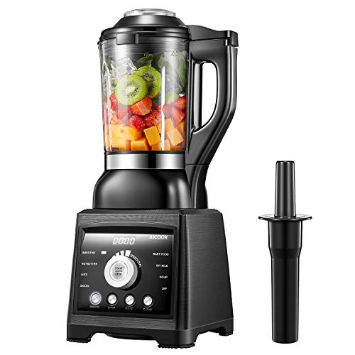 Smoothie Blender Aicook 1400W Professional Soup Maker with 60oz Glass Pitcher, Multifunctional Countertop Blender with 8 Programs and 7 Variable Speed for Smoothies, Ice, Grind and Baby Food