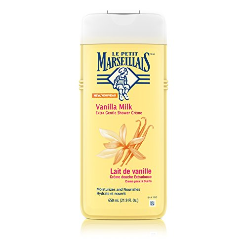 - Le Petit Marseillais Extra Gentle Shower Crème with Vanilla Milk, Moisturizing & Nourishing French Body Wash for pH Neutral for Skin, 21.9 fl. oz