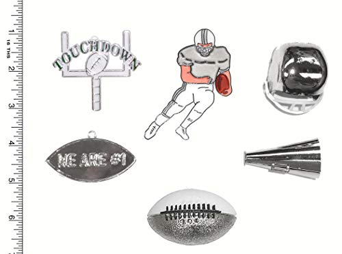 Football Embellishment Pack - Silver