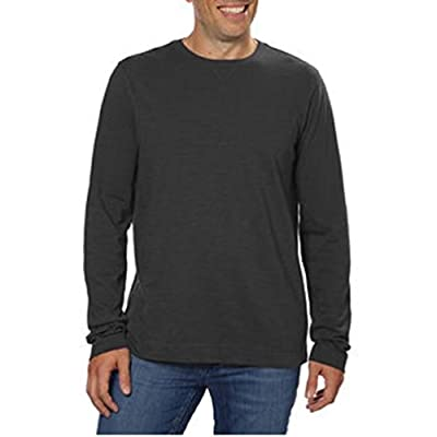 Calvin Klein Men's Slub Knit Crew Neck Long Sleeve Pullover Shirt