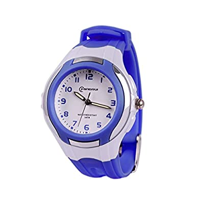 Wolfteeth Analog Quartz Boys Girls Watch White Dial Kids Wrist Watch Water Resistant Designer Learning Time Watch, Plastic Band 3044