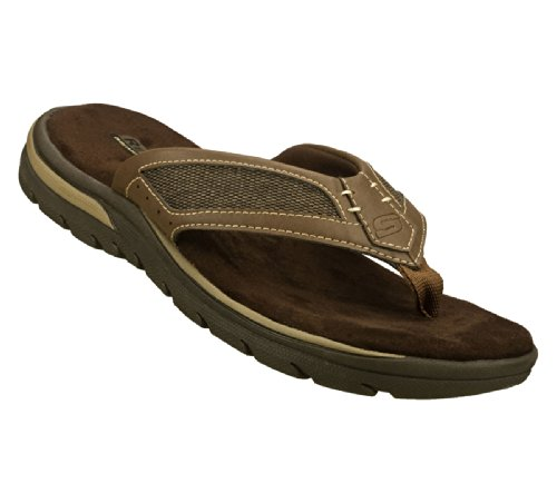 Skechers Relaxed Fit Supreme Jayline Mens Flip Flop Sandals Brown 13