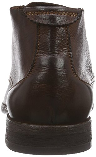 Hudson Men's Osbourne Drum Dye Chukka Boots, Black Suede Brown (Brown)