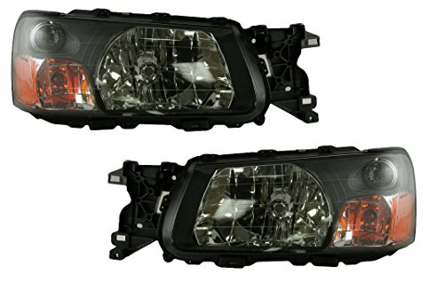 Headlights Headlamps Left & Right Pair Set for 03-04 Subaru Forester