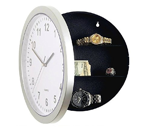Novelty Working Digital Wall Clock Hidden Safe Secret Sta...
