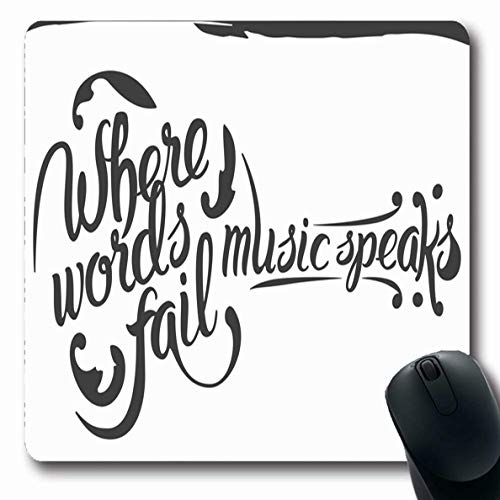 Ahawoso Mousepads Blues Letter Acoustic Guitar Lettering Music Instruments Antique Country Dirty Drawn Design Oblong Shape 7.9 x 9.5 Inches Non-Slip Gaming Mouse Pad Rubber Oblong -