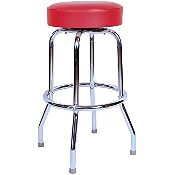 Budget Bar Stools 0-1950RED Swivel Bar Stool with Chrome Frame 16.75  L  sc 1 st  Amazon.com : red swivel bar stools - islam-shia.org
