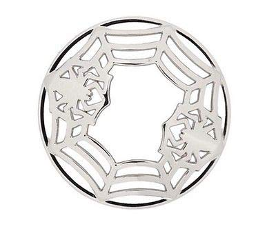 Yankee Candle Silver Halloween Spider Web Illuma-Lid Jar Candle Topper