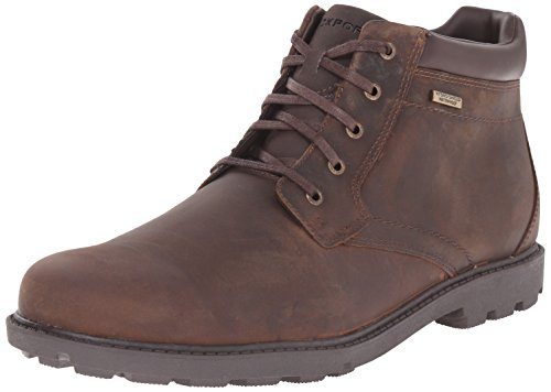 Mens Casual Chukka (Rockport Men's Storm Surge Water Proof Plain Toe Boot Tan 10.5 M (D)-10.5  M)