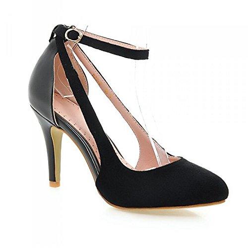Femmes Bout Pointu Satin Stiletto Sandales Pompes Talons Hauts Bride à La Cheville Dorsay Mariage Partie Chaussures De Court Black 86lWw76