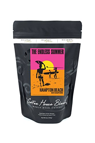 Hampton Beach, New Hampshire - The Endless Summer - Original Movie Poster (8oz Whole Bean Small Batch Artisan Coffee - Bold & Strong Medium Dark Roast w/ Artwork) by Lantern Press