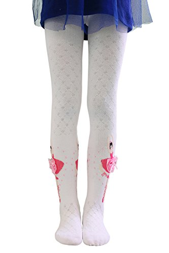 BogiWell Kids Girls Footed Ballet Tights Cotton Dance Pantyhose Stockings