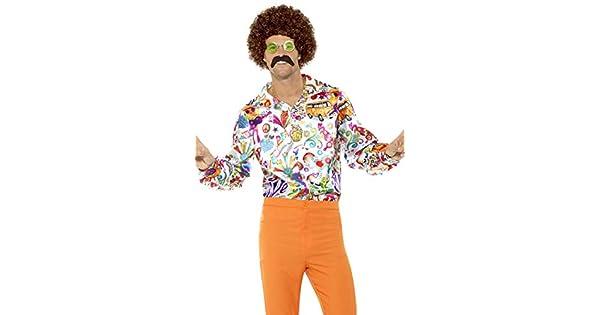 Amazon.com: 60 De Groovy Hippie Disfraz Hombre Adulto Mens ...