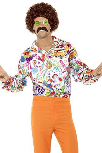 (Smiffys Men's 60s Groovy Shirt,)