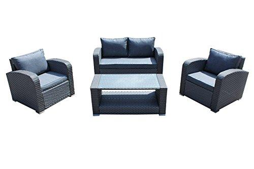 AVANTI TRENDSTORE - Rattanset inkl. Tisch, 1 2-Sitzer und 2 Sessel