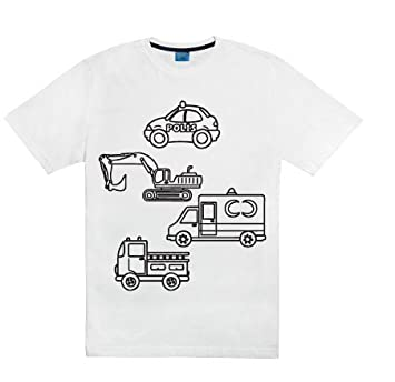 Coloring T-shirt Kit... Children Tees to Color Wear Wash Recolor