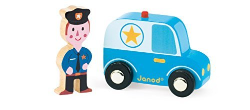 Janod Story City Police Car Janod and Policeman Playset by Janod Car 54d6ad