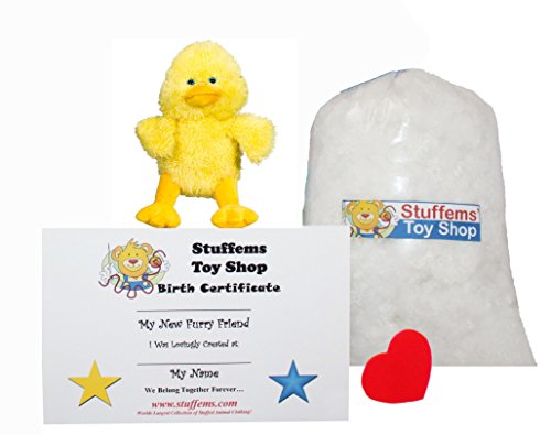 Make Your Own Stuffed Animal Mini 8 Inch Puddles the Duck Kit - No Sewing Required! (Puddles Stuffed Animal)