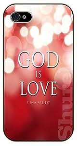 iPhone 6+ Plus Bible Verse - God is love. John 4:16 - black plastic case / Verses, Inspirational and Motivational