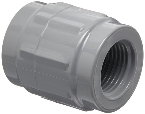 GF Piping Systems CPVC Pipe Fitting, Coupling, Schedule 80, Gray, 1/2