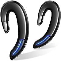 【最新Bluetooth5.1 耳掛け式 ヘッドセット】 Bluetooth イヤホン 耳掛け式 両耳 耳に塞がない IPX7防水 自動ペアリング 左右独立型 スポーツ ブルートゥース イヤホン 高音質 5時間連続再生 超軽量...