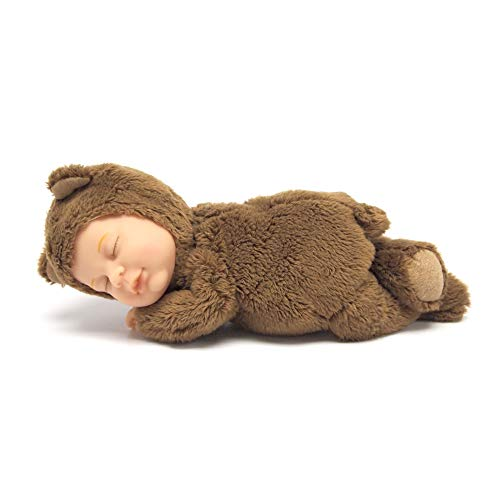 "Commonwealth Toys Anne Geddes 9"" Baby Bear -Chocolate, Brown"
