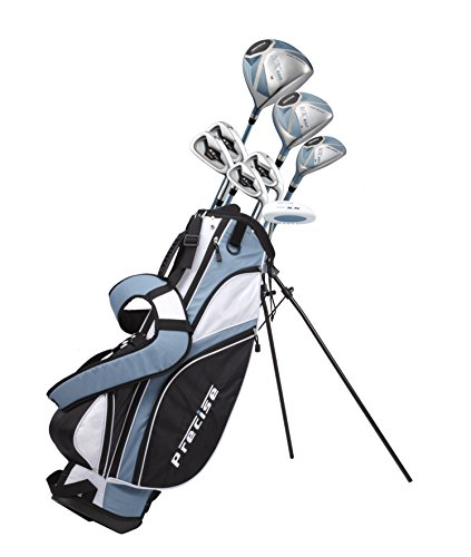 Womens Complete Golf Clubs Set Includes Driver, Fairway, Hybrid, 4 Irons, Putter, Bag, 3 H/C's - 2 Sizes - Regular and Petite Size! (Right Hand Petite Size 5'3