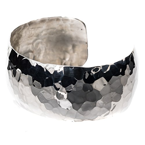 TSKIES: Sterling Silver Bracelets for Women. Hammered Finish 100% Handcrafted American Made Jewelry